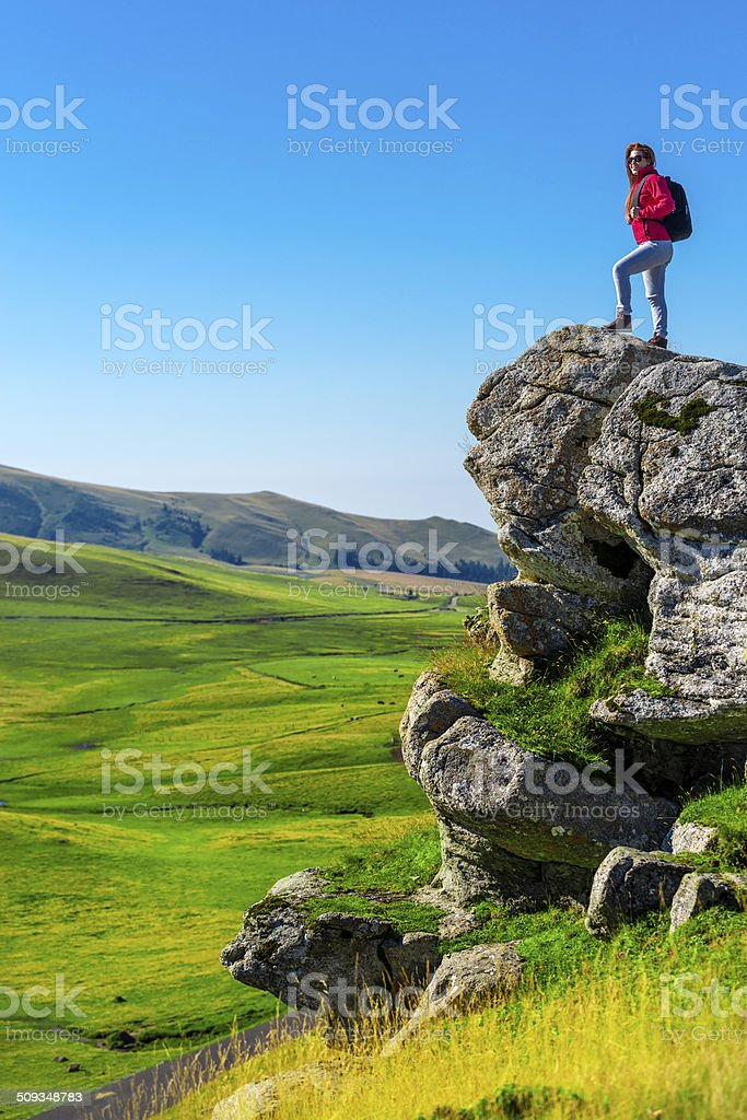 feeling the wilderness stock photo