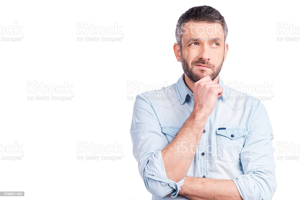 Feeling uncertain about? stock photo