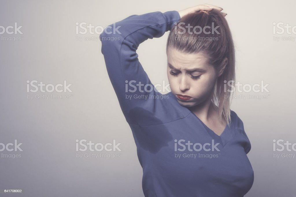feeling uncomfortable stock photo