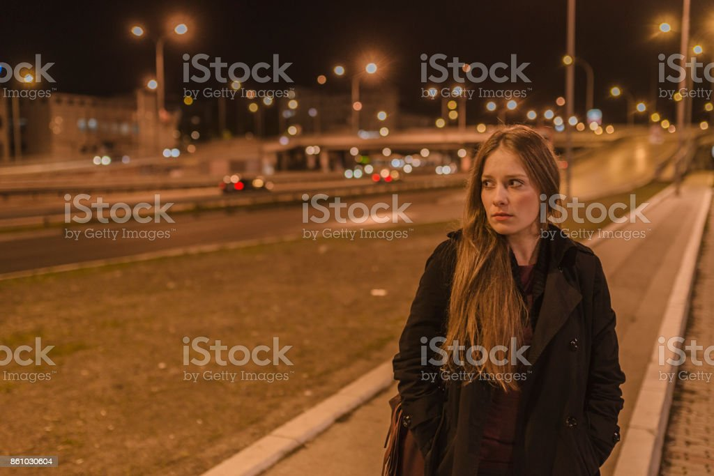 Feeling uneasy stock photo