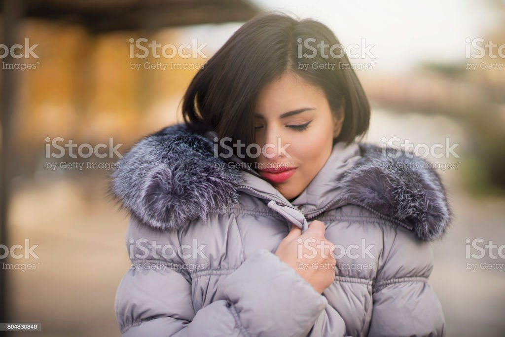 Feeling Warmth And Cosiness stock photo