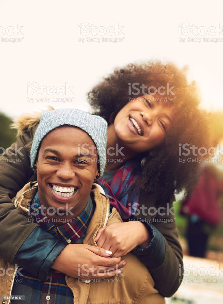Feeling young and free stock photo