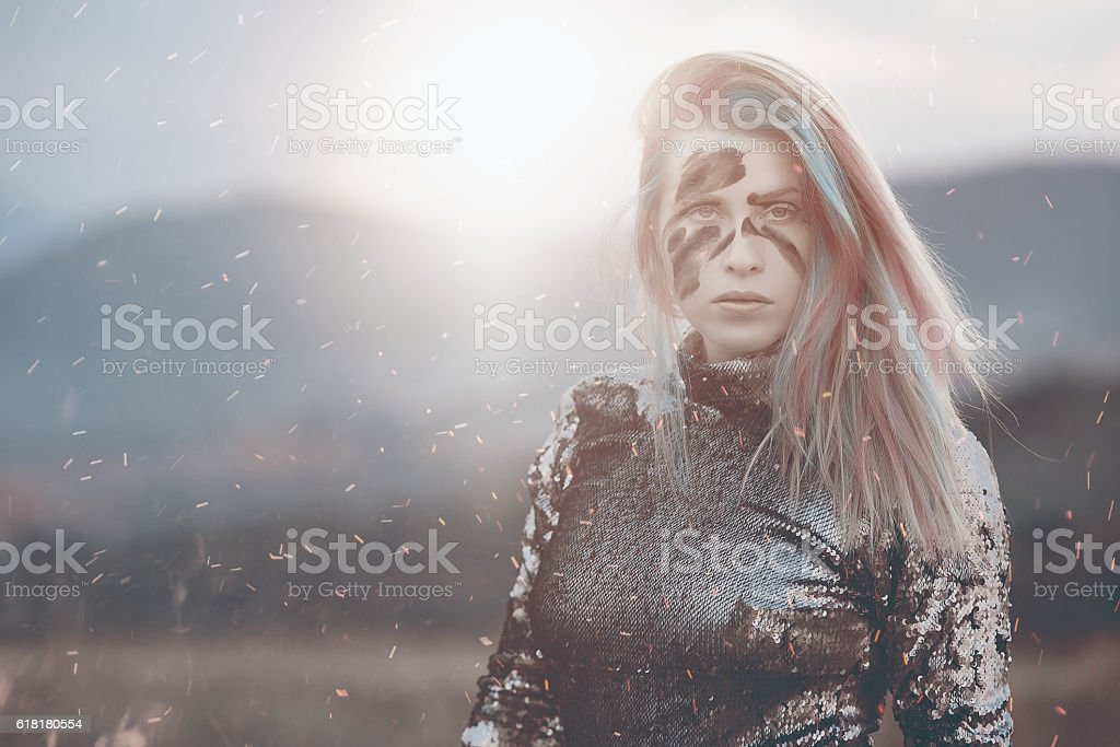 feelings, war and sunset stock photo