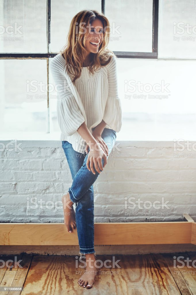 Feels good to be able to relax all day stock photo
