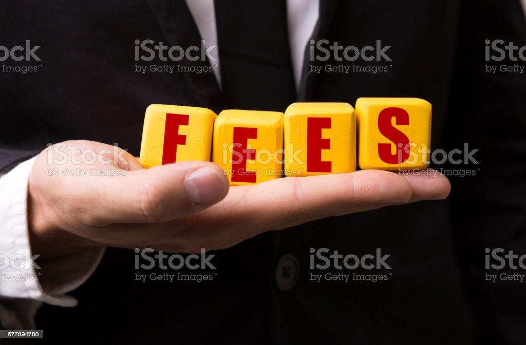 Fees stock photo