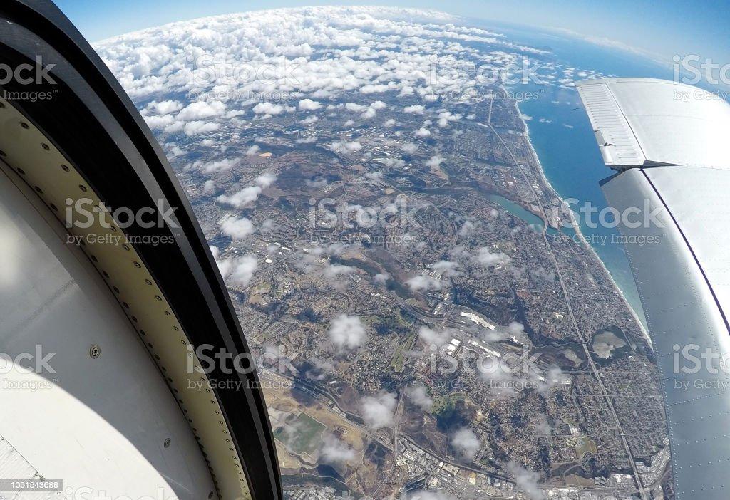 13,000 Feet Above Oceanside, CA stock photo
