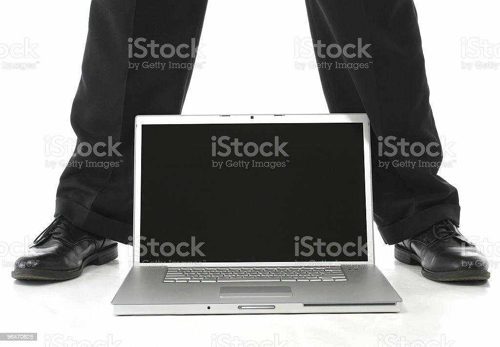 Feet and Laptop royalty-free stock photo