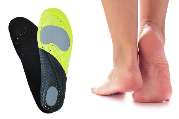 pies y plantillas ortopédicas - foto de stock