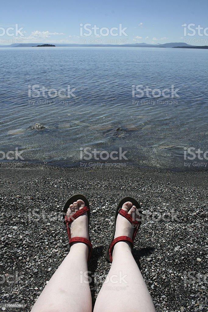 Cuadrados en Yellowstone lago foto de stock libre de derechos