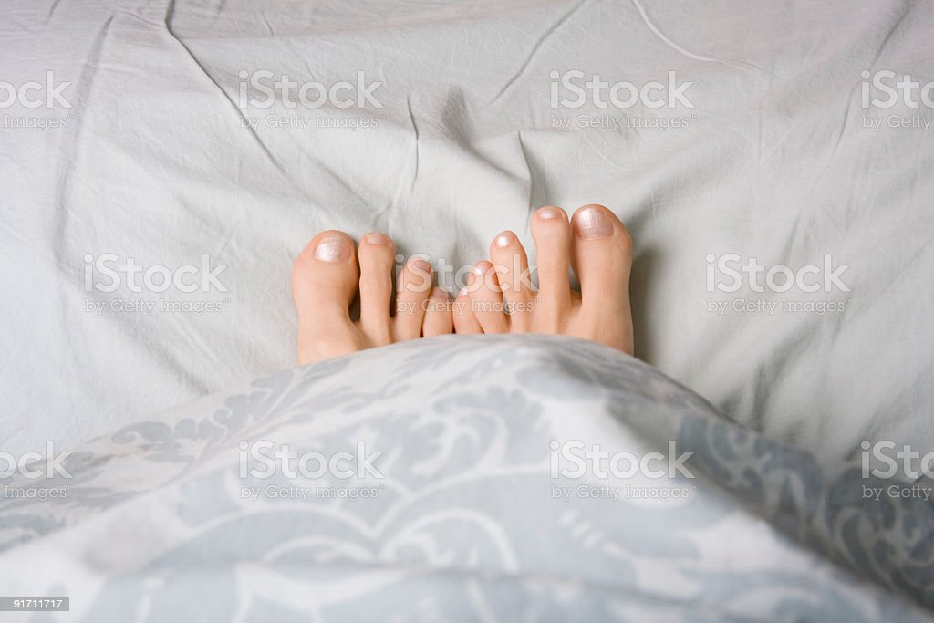 Feet duvet cross royalty-free stock photo