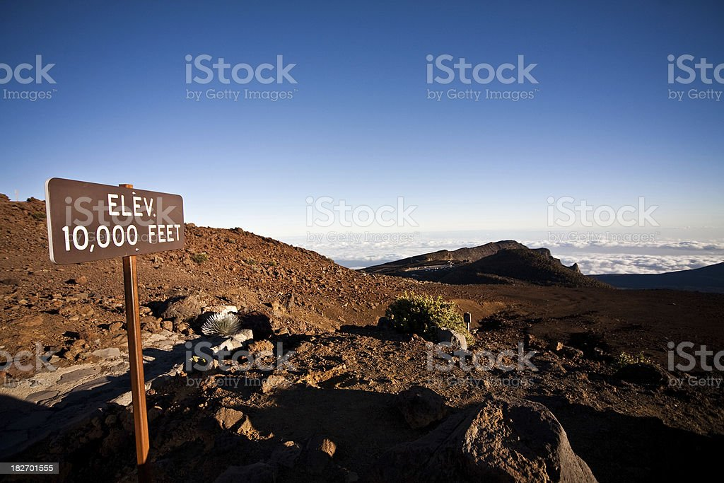 10, 000 feet elevation royalty-free stock photo