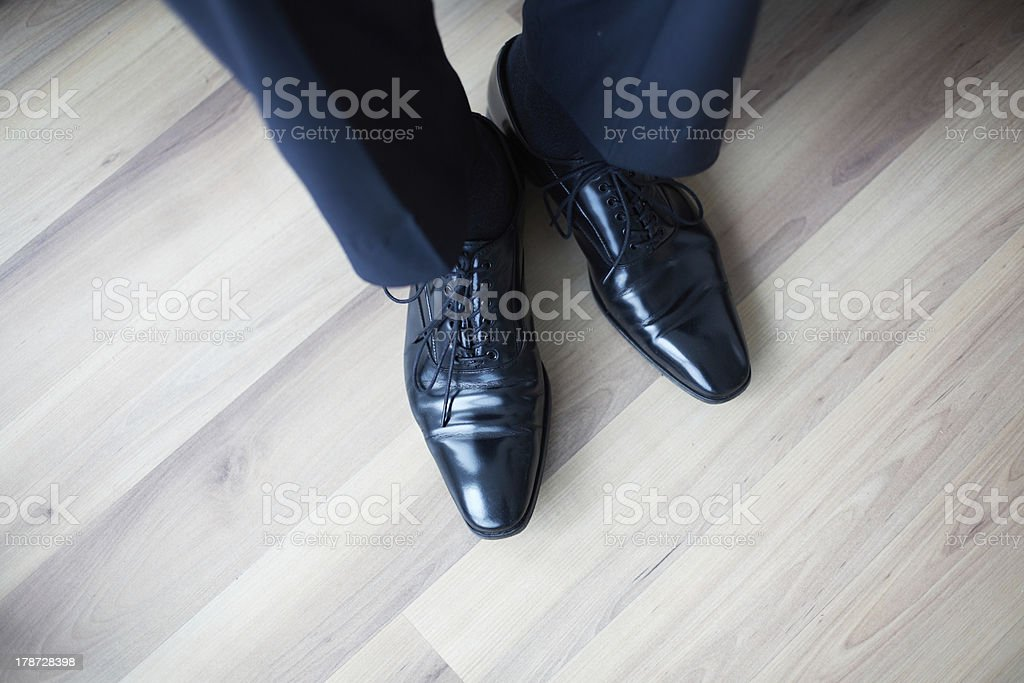 Feet in boots stock photo