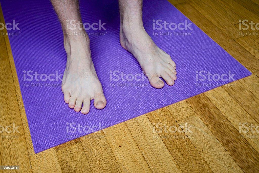 Feet in Mountain Pose royalty-free stock photo