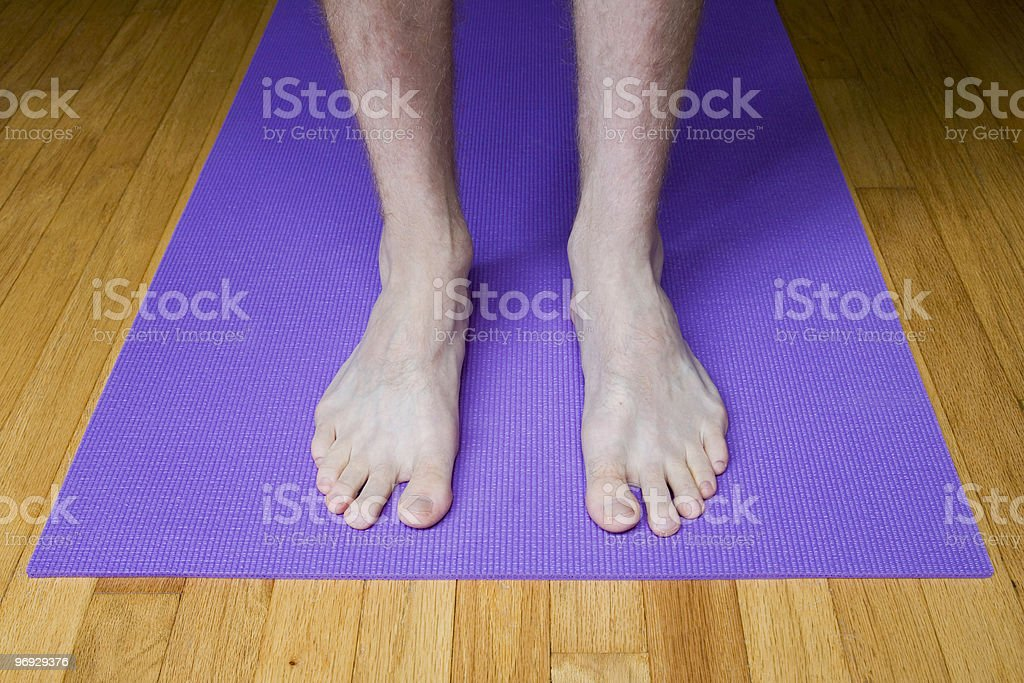 Feet in Mountain Pose - Straight On royalty-free stock photo