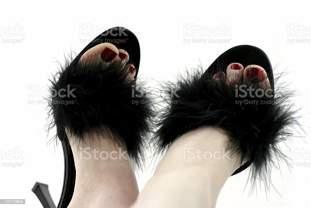Feet in sexy shoes. royalty-free stock photo