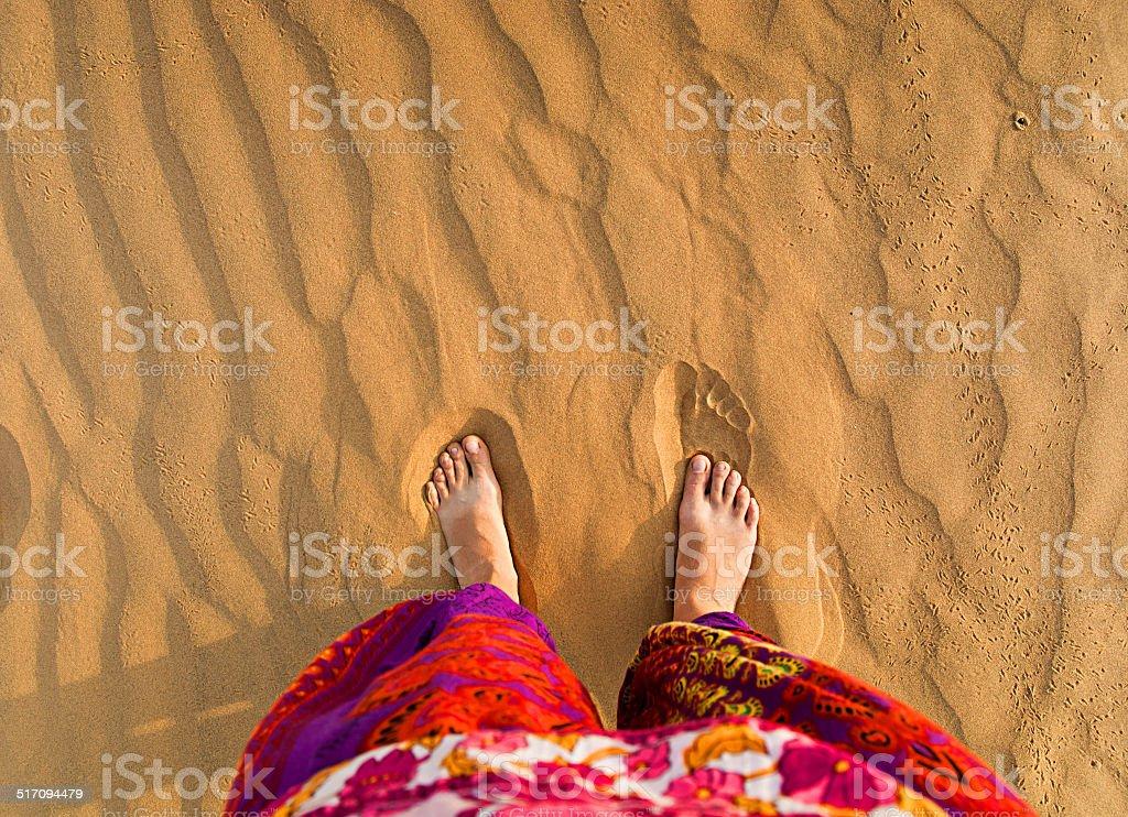 Füße in der Wüste – Foto