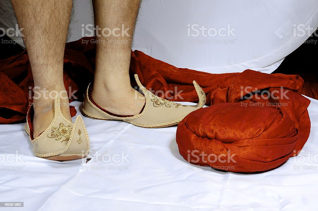 Feet in the studio royalty-free stock photo