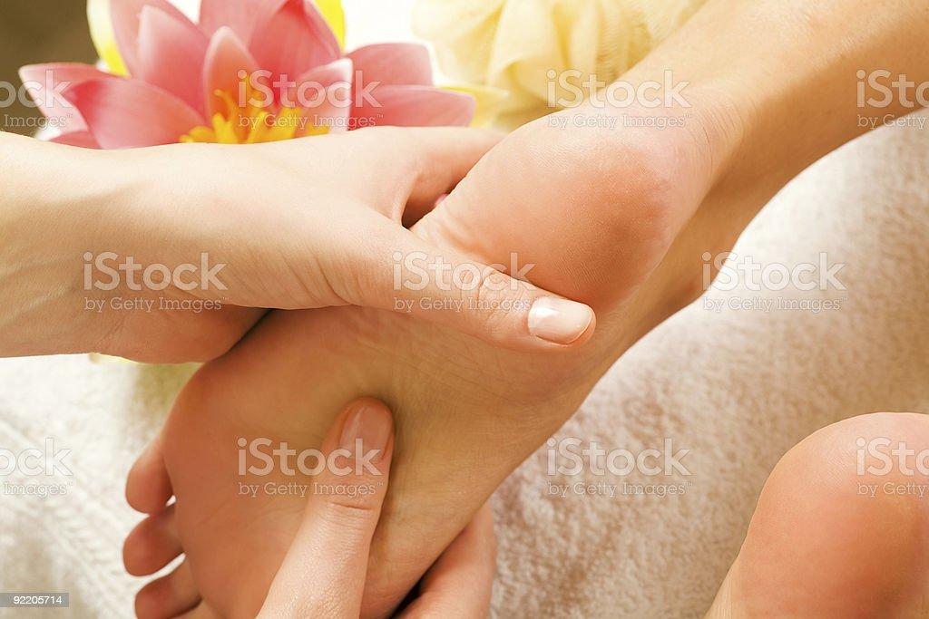 Feet massage royalty-free stock photo