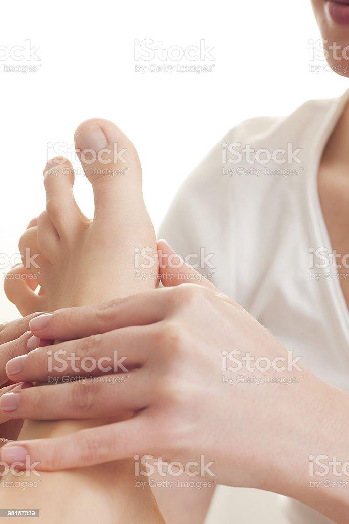 Massaggio dei piedi foto stock royalty-free