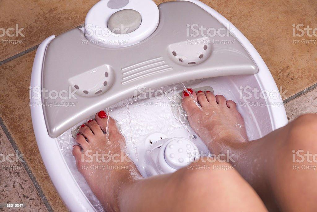 Feet massager stock photo