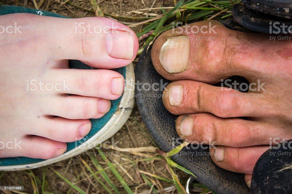 Füße von ein Mann und Frau (Nahaufnahme – Foto