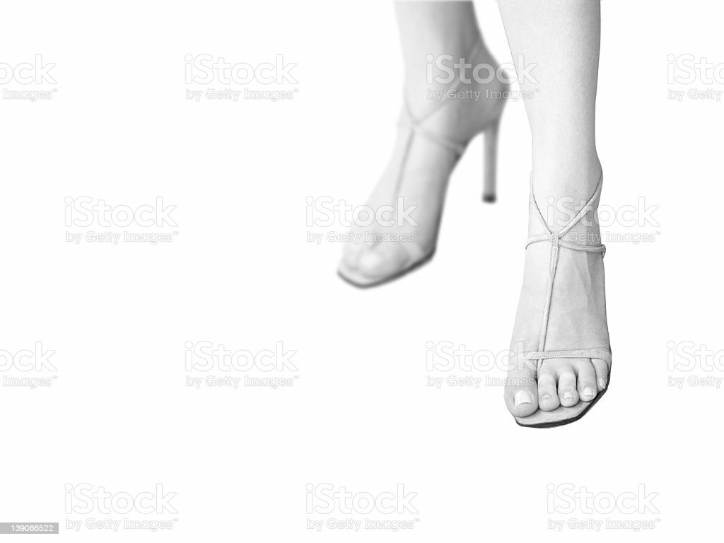 Feet of an attractive woman royalty-free stock photo