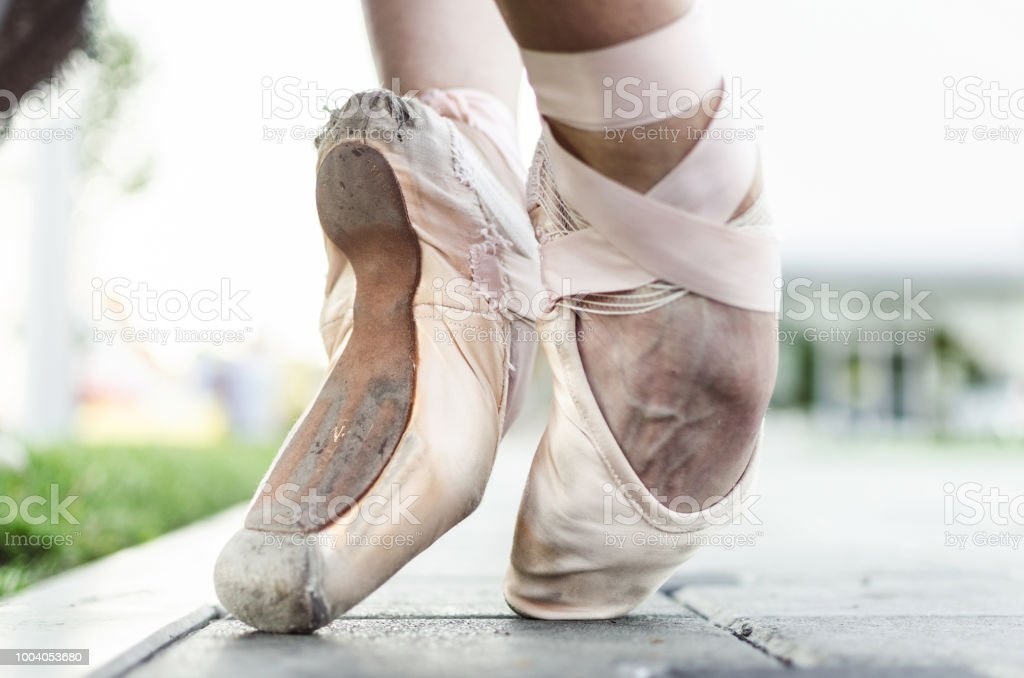 Balletttänzerin Füße