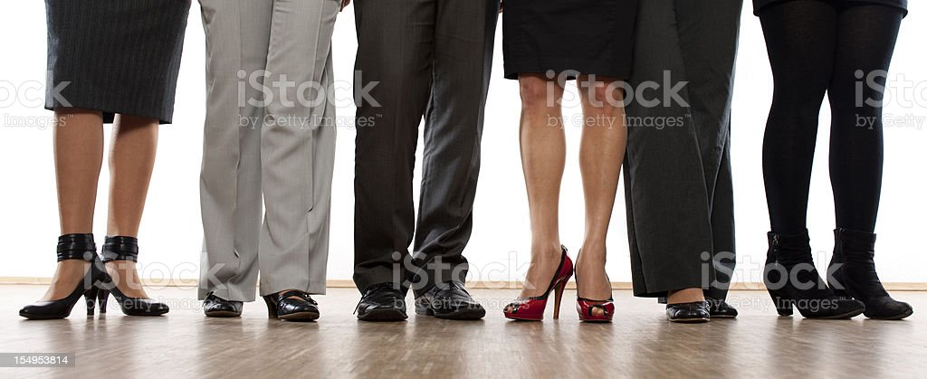 Feet of business people stock photo