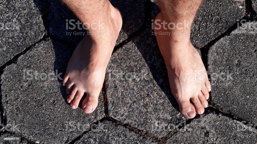 feet on a path - Royalty-free Arrow Symbol Stock Photo