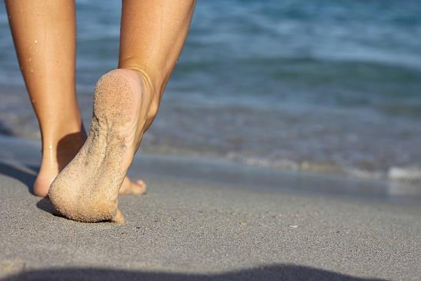 Füße am Strand – Foto