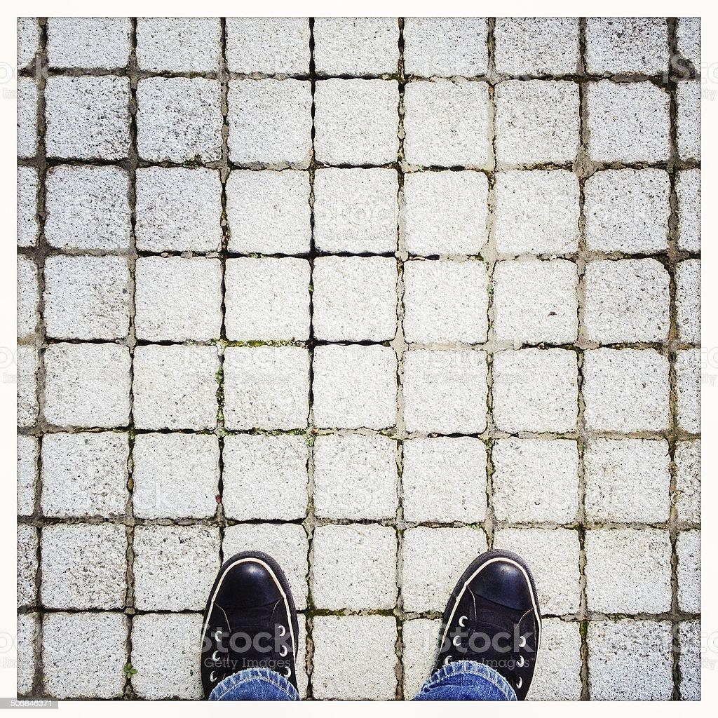 Feet on Floor royalty-free stock photo