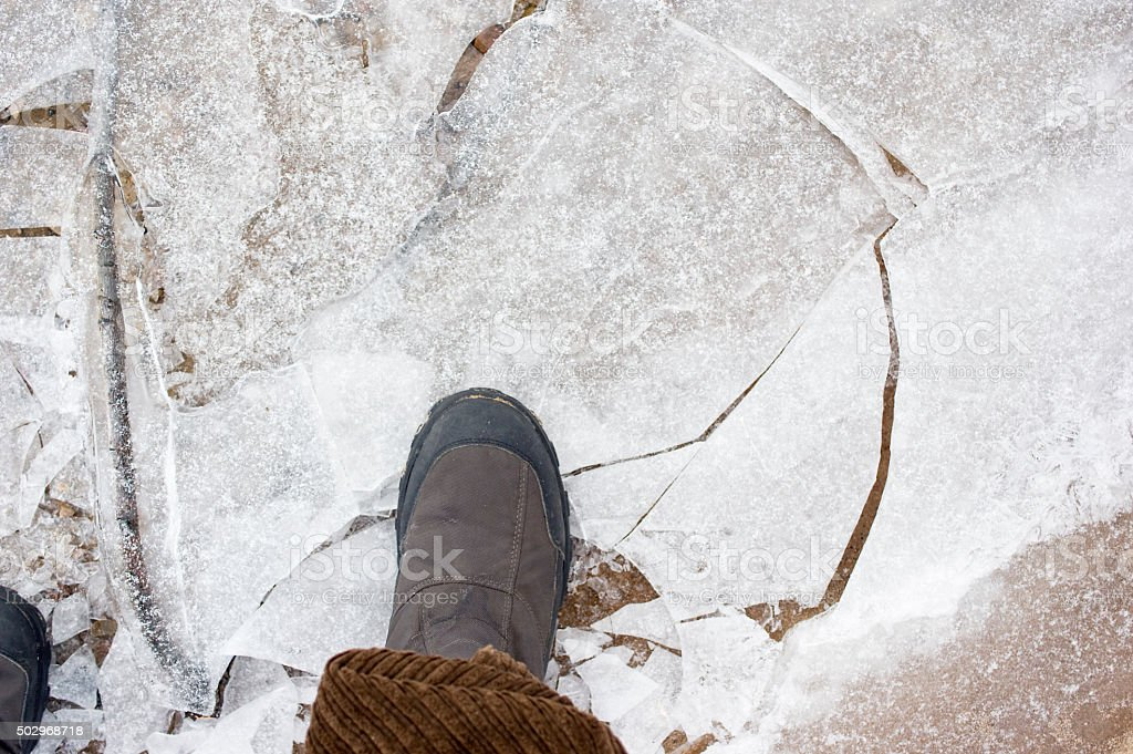 Feet On Ice stock photo