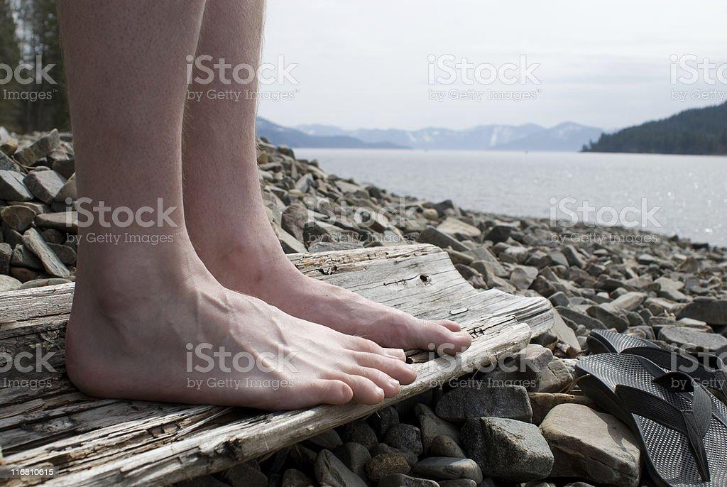 Füße auf Pend Oreille - Lizenzfrei Abgeschiedenheit Stock-Foto