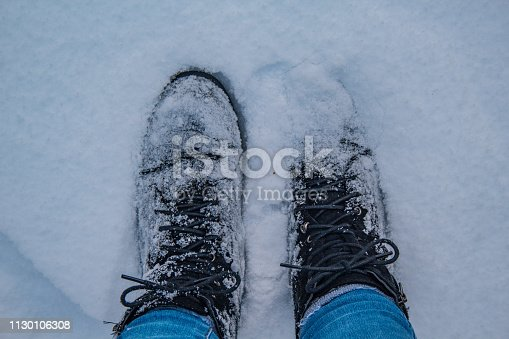 walking in snow