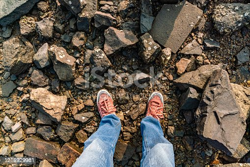 917262406 istock photo Feet on the cobblestone 1216929981