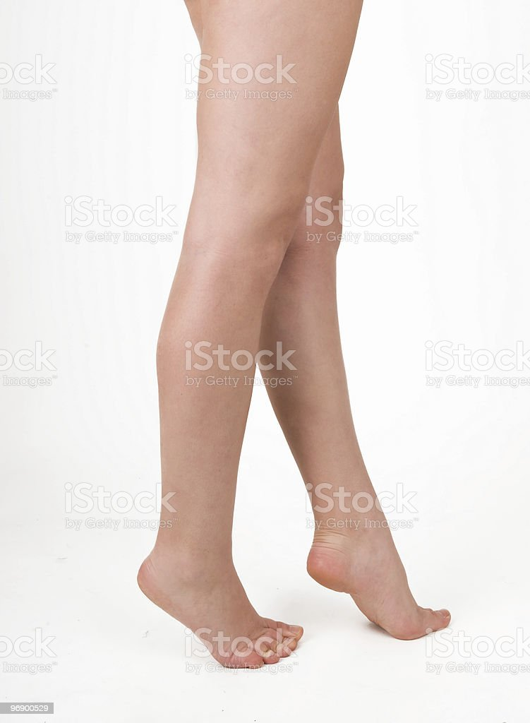 feet on tiptoe royalty-free stock photo