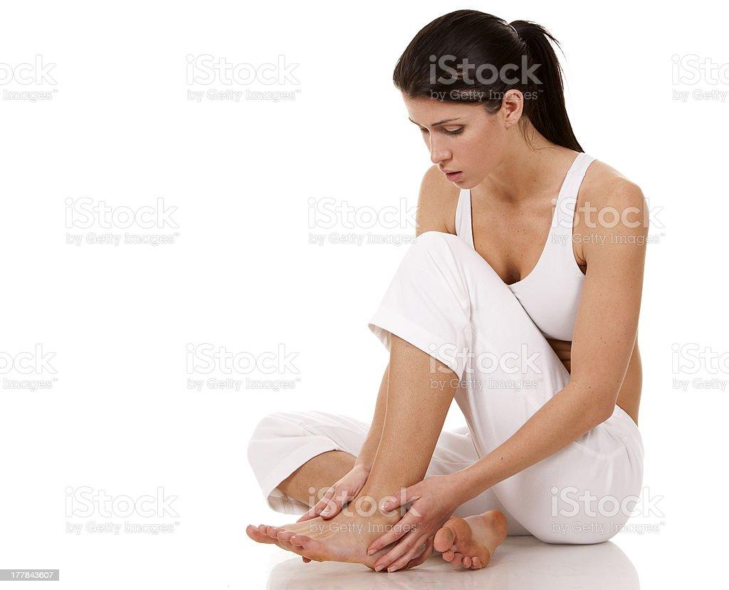 feet pain stock photo