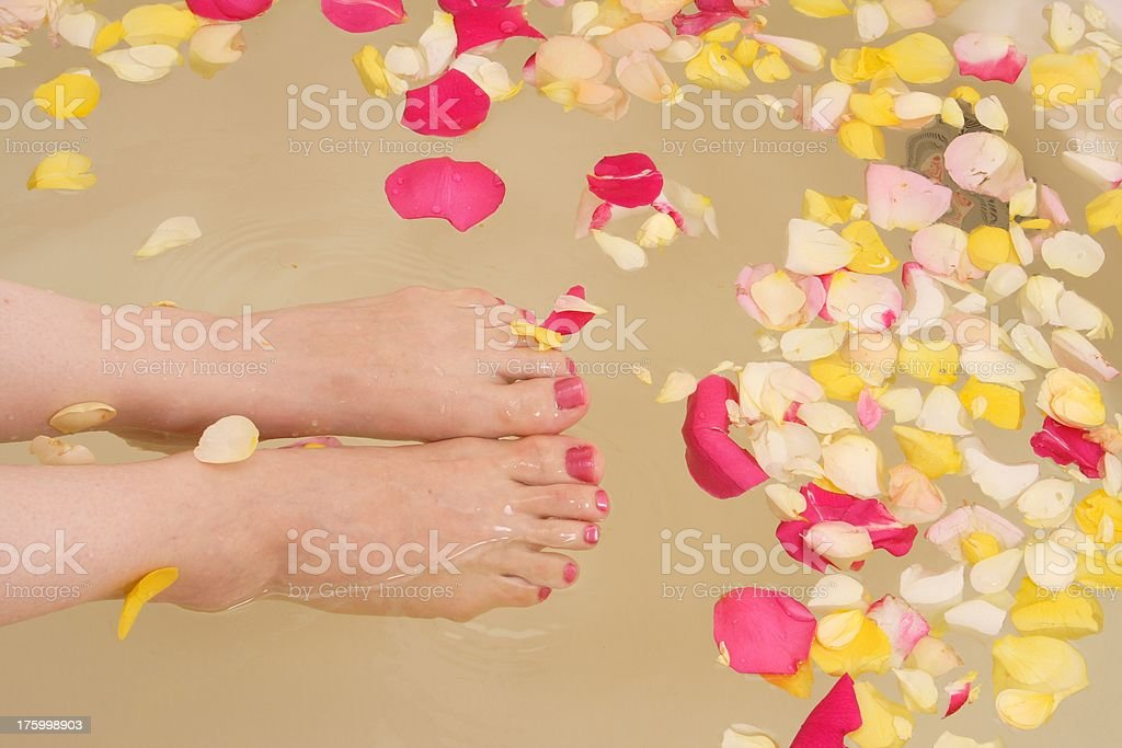 feet pamper royalty-free stock photo