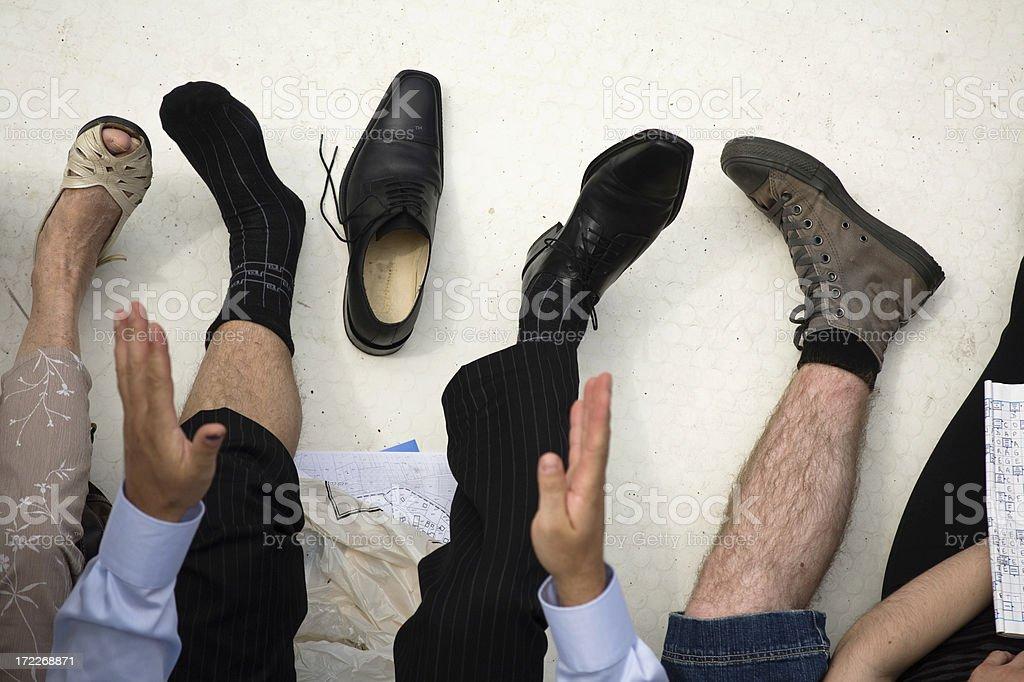 pieds stock photo