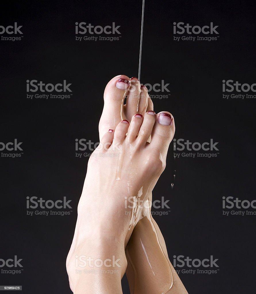 Feet Refreshed stock photo