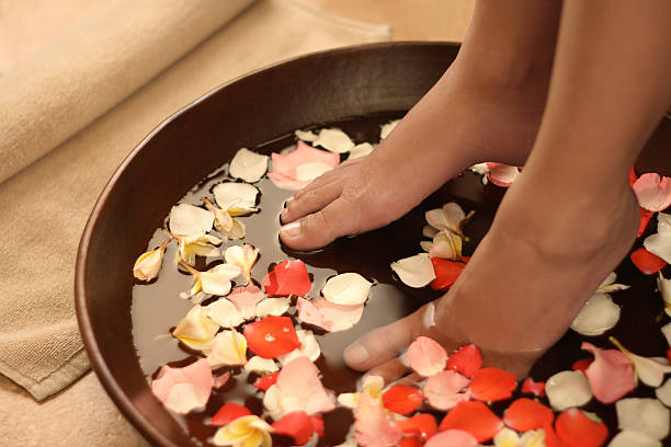 Feet spa treatment  foot massage stock pictures, royalty-free photos & images