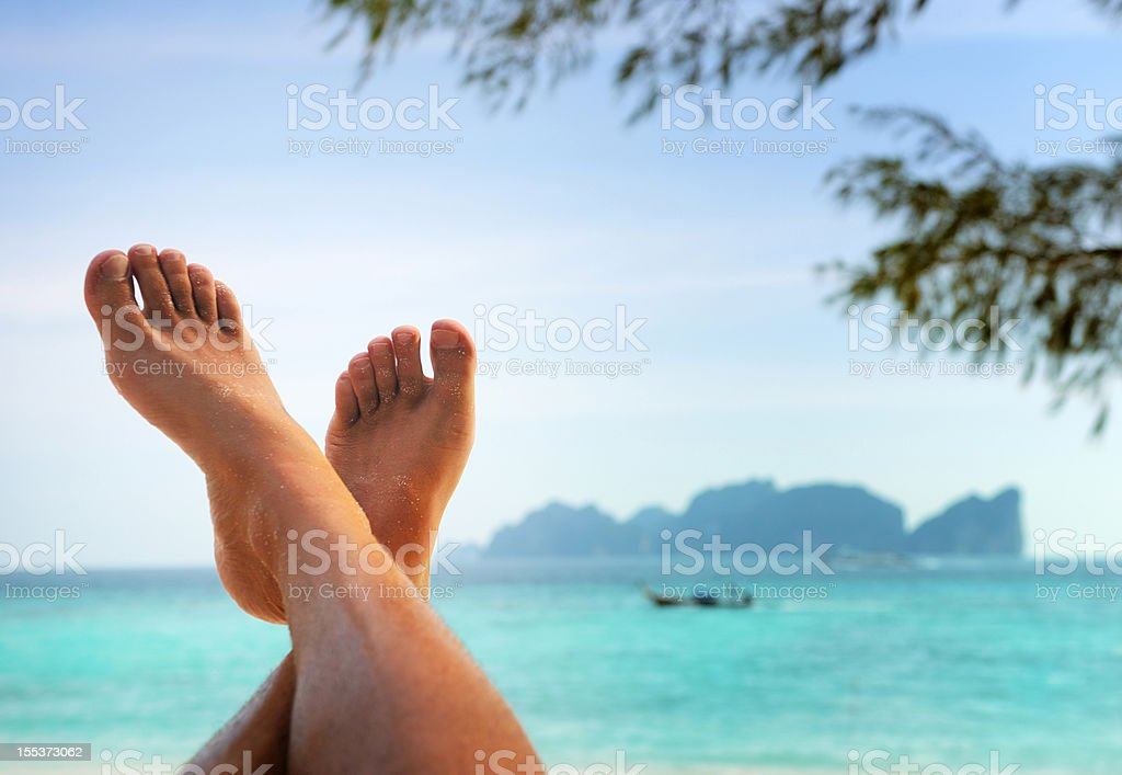Feet up in Paradise - Time to Relax (XXXL) royalty-free stock photo