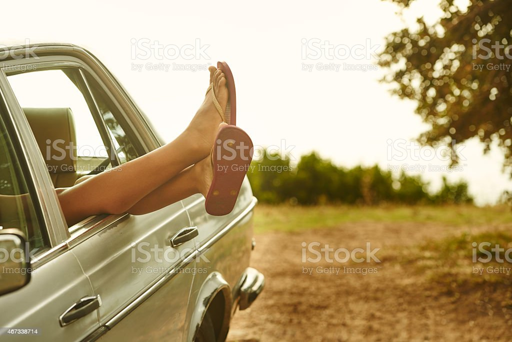 Feet up! It's the weekend stock photo