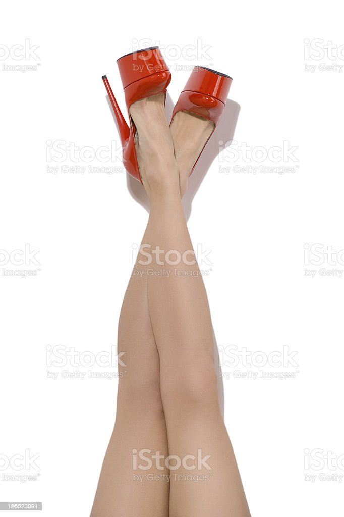 Feet up. stock photo
