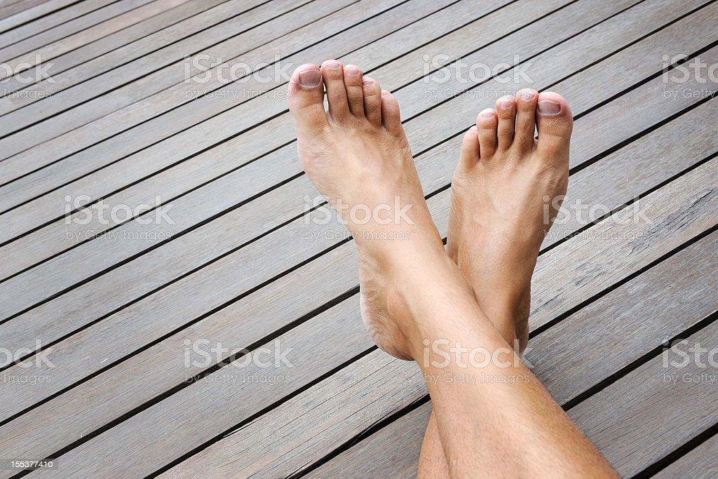 Feet up, Relaxing (XXXL) royalty-free stock photo