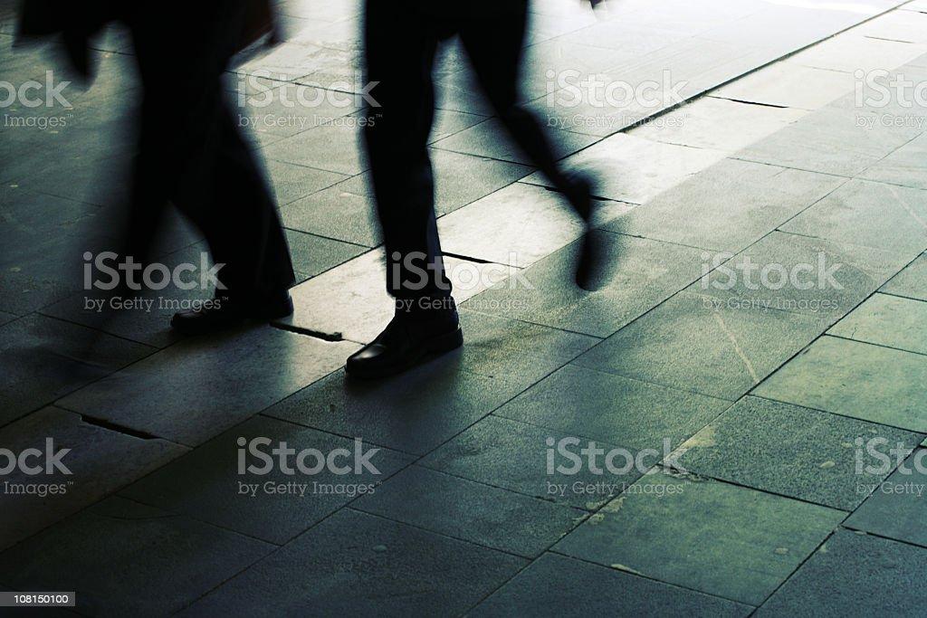 Feet walking on Street royalty-free stock photo