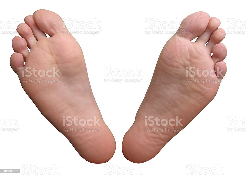 Feet with clipping path stock photo