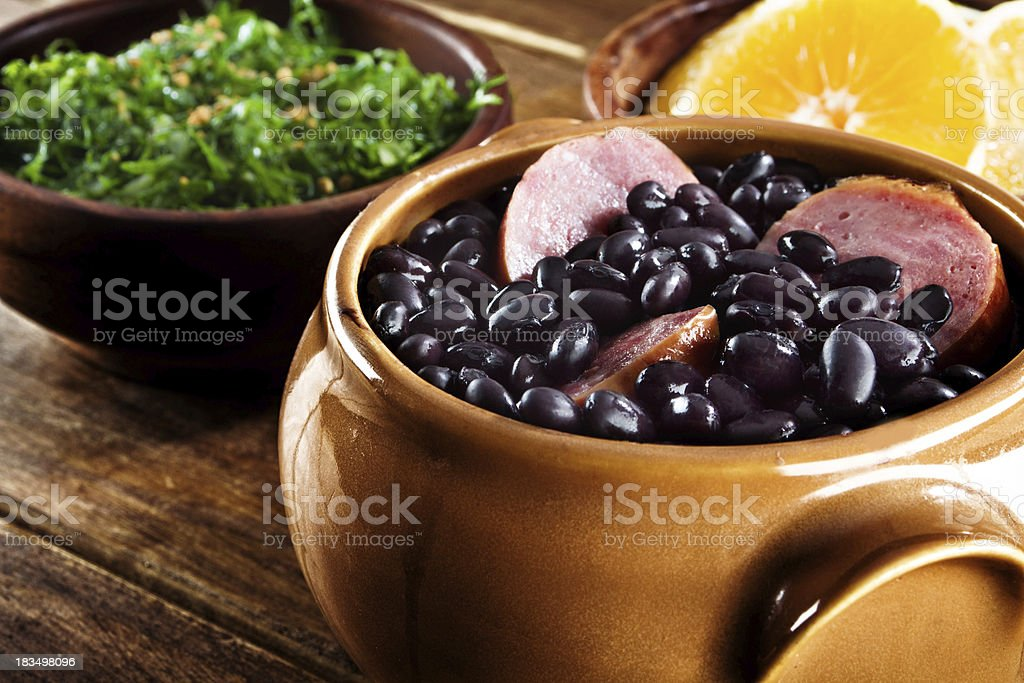 Feijoada, Brazilian traditional meal. stock photo