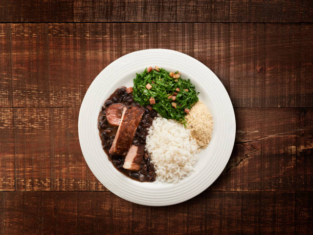 Feijoada Feijoada no prato arroz stock pictures, royalty-free photos & images