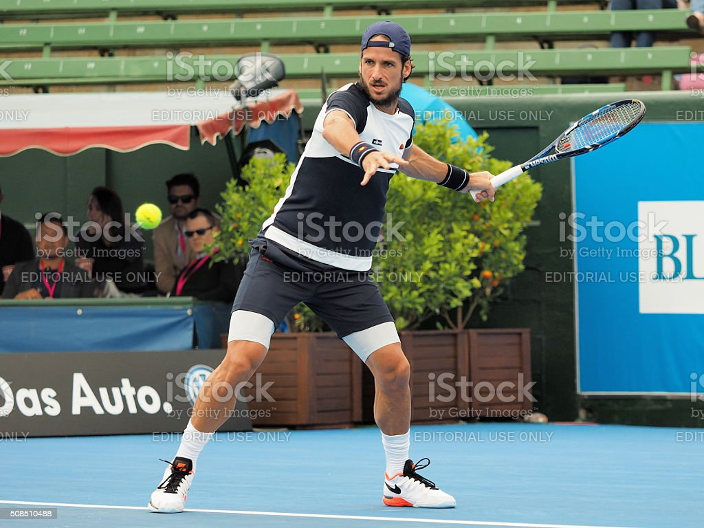 Feliciano Lopez of Spain  Kooyong Tennis Club stock photo